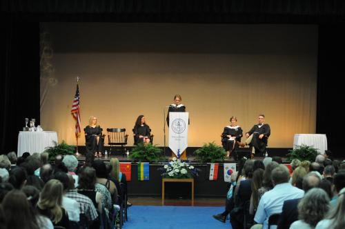 Anna Schuleit Haber delivers the 2014 Stoneleigh-Burnham Commencement Address.